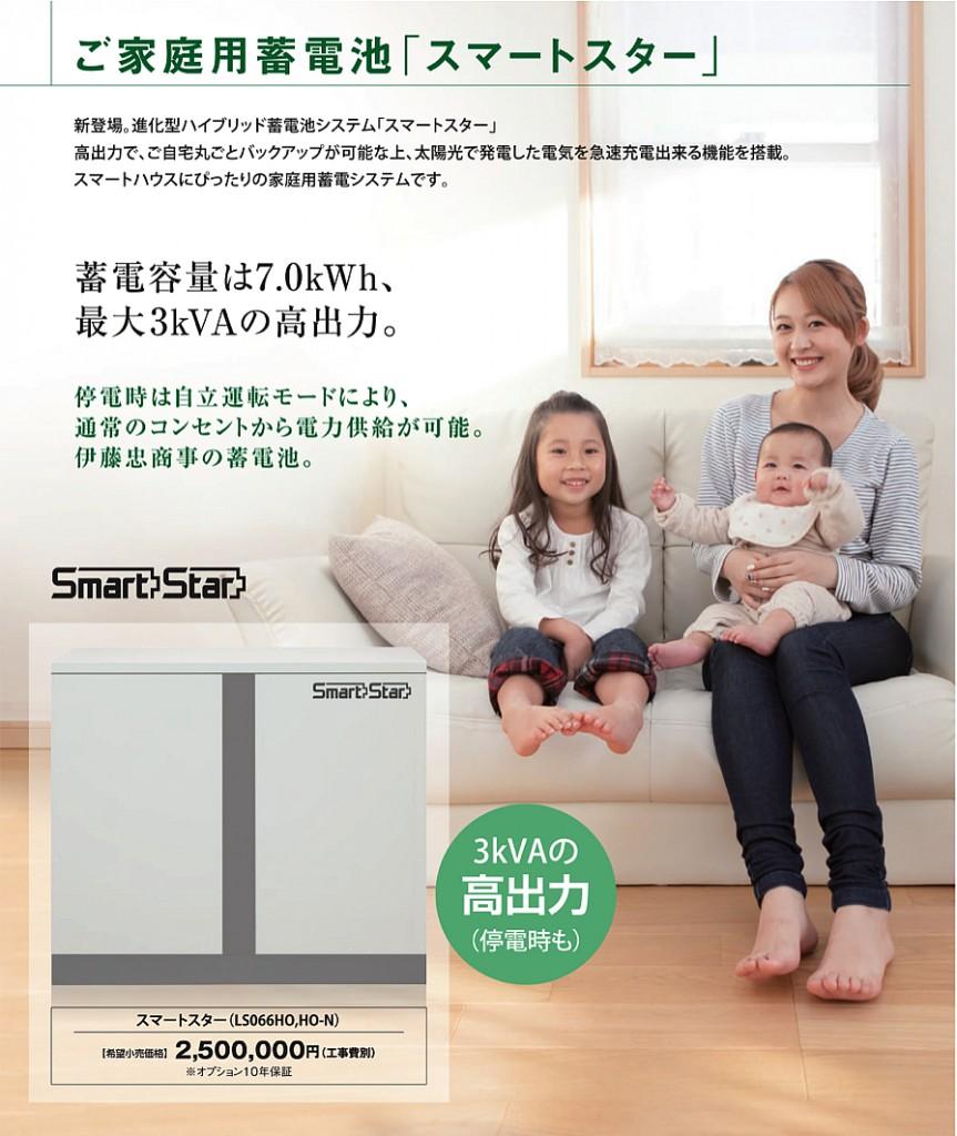 ご家庭用蓄電池「スマートスター」