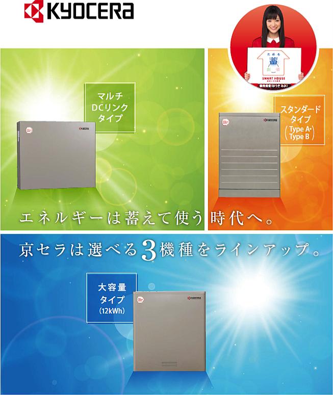 京セラ(株) リチウムイオン蓄電池・V2H