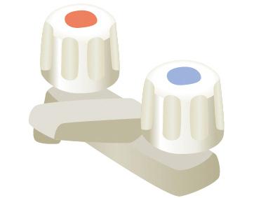 ツーホール水栓